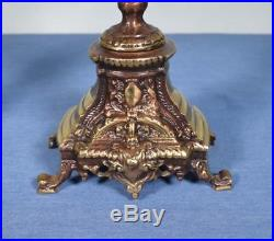 17 Tall Pair of Vintage French Bronze Candelabra Candlesticks