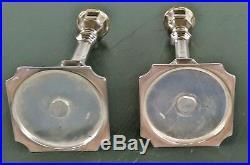 2 vintage hazorfim 925 silver candlesticks judaica sterling 7.75 inches israel