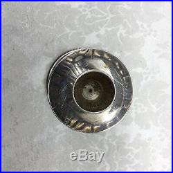 925 Sterling Silver Dolphin Fish Antique Vintage Candle Stick Holder Candlestick