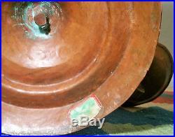 ARTS & CRAFTS copper candelabra vtg hand hammered log cabin candlestick candle