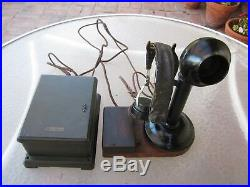 Antique Vintage Western Electic Railroad Dispatcher Station Candlestick Phone