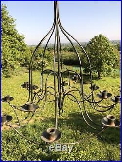 Candelabra Wedding Antique Vintage Iron Hanging Candle Stick Chandelier Summer