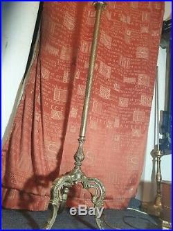 Finest Vintage Hollywood Regency Solid Brass Candlestick Standard Floor Lamp