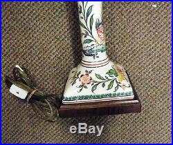 Frederick Cooper, Vintage Pair Ceramic Candlestick Lamps' 21 1/2 REDUCED PRICE