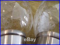 Gorgeous Vintage french crystal 2 candlesticks Baccarat bambou pattern