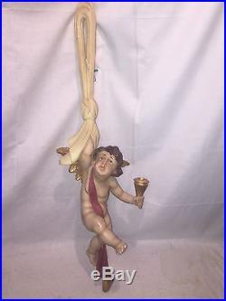 HUGE 31 Rare German vintage flying angel cherubin amour candlestick holder