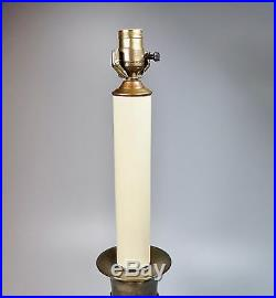 Large Brass Vintage Frederick Cooper Candlestick Table Lamp 25 + Harp & Finial