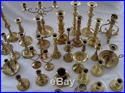 Lot of 37 Vintage Brass Candlestick Holders Candle Wedding Catering