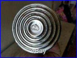 PAIR Vtg MCM 10 Sterling Silver Swirl Column Candlesticks GARDEN SILVERSMITHS