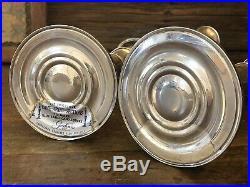 Pair Of Vtg Gorham 808 3-Light Sterling Silver Weighted Candelabra Candlesticks