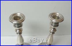 Pair Vintage Gorham Sterling Silver 10 Candlesticks