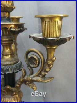 Pair of Two 2 Set Vintage Candlesticks Putti Angel Cherub Figural Candelabras