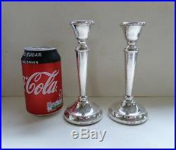Pair of Vintage Sterling Silver Candlesticks, Birmingham 1989, Francis Howard