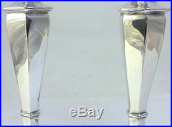 Pair of Vintage hallmarked Silver 17.5cm Candlesticks 1974 by Mappin & Webb