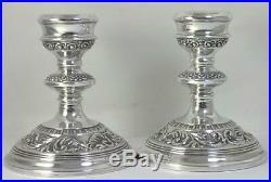 Pair of Vintage hallmarked Sterling Silver Candlesticks (11.5cm / 4 ½) 1963