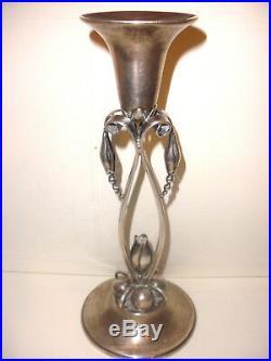 Rare Vintage sterling silver candlestick Durham Georg Jensen La Paglia Style 9.5