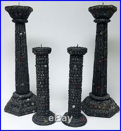 SOMETHING DIFFERENT Vintage Group of Ornate Altar Candlesticks Tall Church