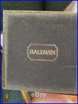VINTAGE BALDWIN BRASS CANDLESTICKS TABLE BUFFET LAMPS 28 Pair Colonial