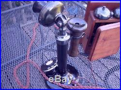 VINTAGE ORIGINAL GPO 1920's CANDLESTICK TELEPHONE IN WONDERFUL CONDITION FWO