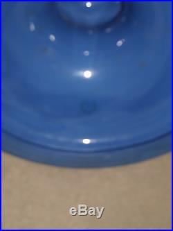 Very Rare Pair Vintage Lenox Tall Cobalt Blue Candlesticks Older Blue Mark