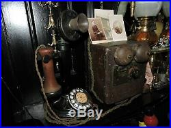 Vintage 1929 GPO Candlestick Telephone No. 150 Bakelite With Chrome & Enamel Dial