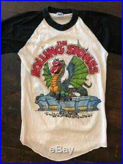 Vintage 1981 Rolling Stones dragon t-shirt, Candlestick Park San Francisco
