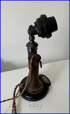 Vintage Antique Candlestick Telephone 1910s