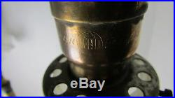 Vintage Brass Candlestick Lamp With Dual Early Hubbell Sockets Unique
