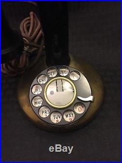 Vintage Brass Candlestick Telephone In Good Condition