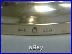 Vintage Continental Silver 830s Candlesticks MID Century Design