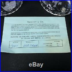 Vintage Crystal Candlesticks w Tiffany Box & Receipt 8 tall Round VTG Lovely