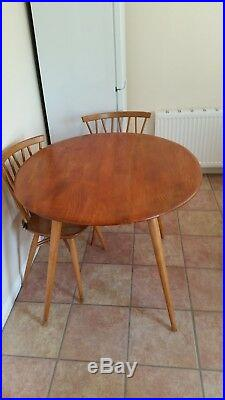 Vintage ERCOL CANDLESTICK DINING SET -Dining Table & Four Chairs. Good Condition