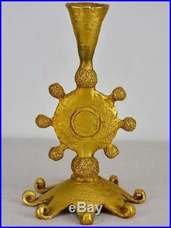 Vintage Fondica gilded bronze candlestick