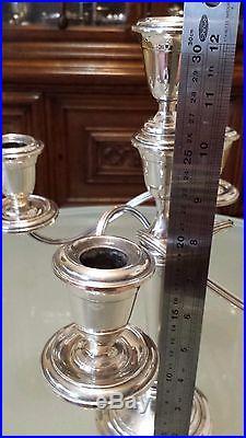 Vintage Gorham Puritan Sterling Silver 5 Light Candelabra Candlestick