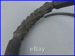 Vintage Hand Wrought Iron Brutalist Modernist Candlestick Paul Evans Bertoia Era