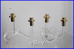 Vintage LUCITE double Candlestick Candle Holder Dorothy Thorpe, set of 2