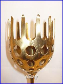 Vintage Pair Danish Modern Brass Candlesticks By Bjorn Wiinblad MCM Eames 1950's