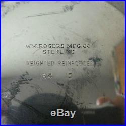 Vintage Pair Wm. Rogers Sterling Silver 3-lite Candelabra / Candlesticks