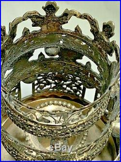 Vintage Rare Sterling Silver HAND-MADE MEYERS CREATIVE Sabbath Candlesticks