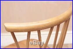 Vintage Retro Mid Century Blonde Ercol Chiltern Candlestick Chairs x4