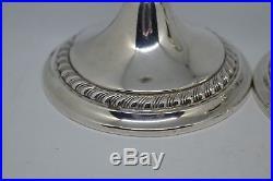 Vintage Sterling Silver Candlestick holders full hallmarks Gorham Sterling #P55