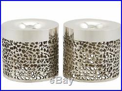 Vintage Sterling Silver Candlesticks Design Style Post-1940