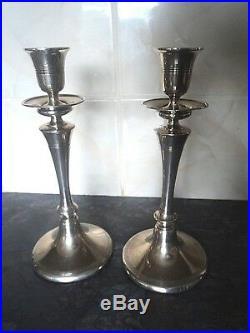 Vintage Sterling Silver Candlesticks h/m 1909/13 Sheffield by Walker & Hall