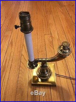 Vintage Stiffel Brass Table Lamp-Genie-Candle Stick