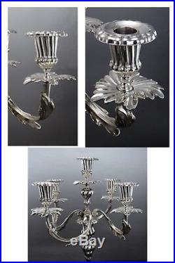 Vintage Tiffany Candelabra Italian Sterling Silver 5 Candlestick Flower Petals
