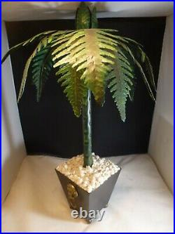 Vintage Two's Company PALM TREE Metal Candle Stick Holder, 19 Tall TOLE